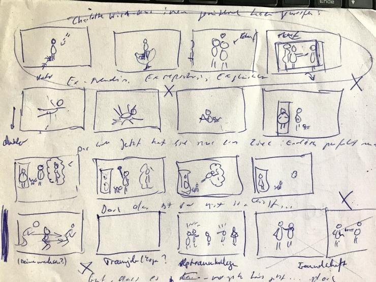 Liebe geht immer TRL - Making Of 1 Storyboard 2 b