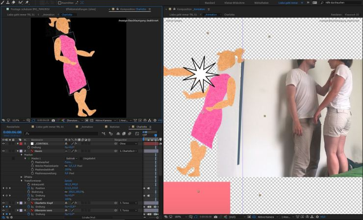 Liebe geht immer TRL - Making Of - Rotoscoping